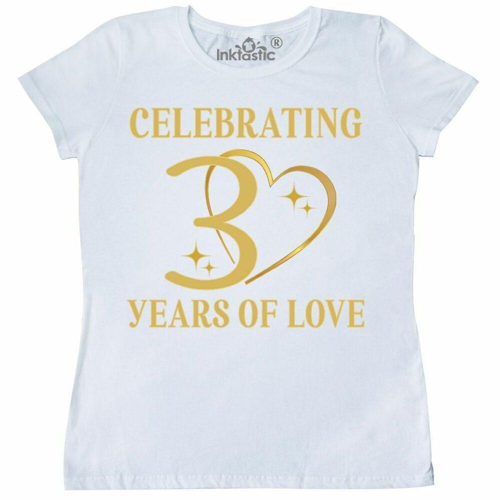 Inktastic 30th Wedding Anniversary Gift Women's TShirt