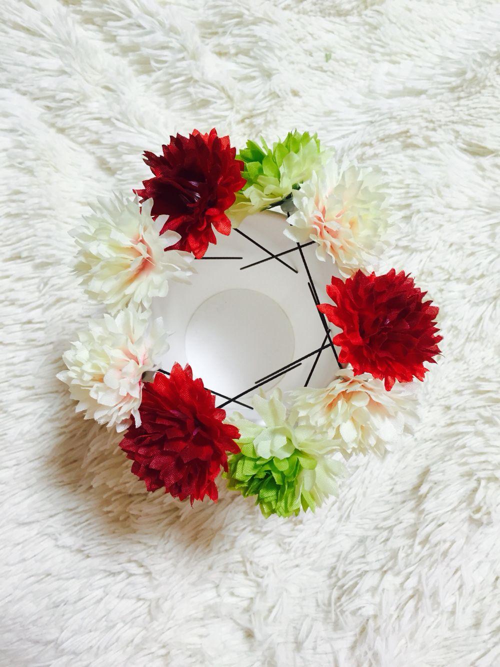 和装用の髪飾りを手作り。 100均の造花をUピンにつけ