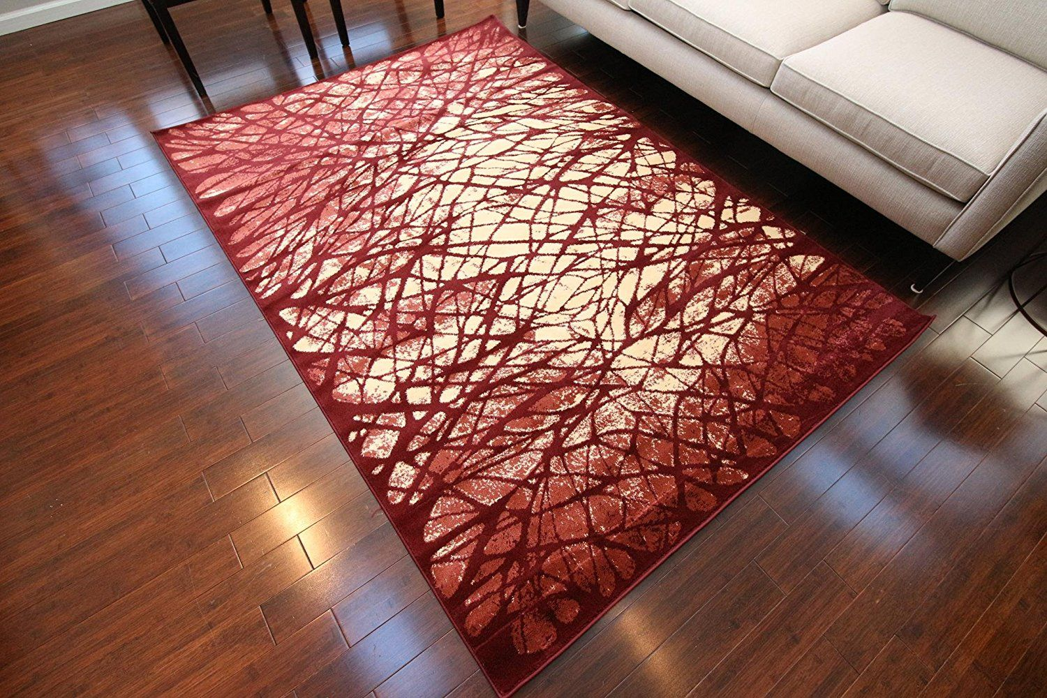 Feraghan New City Contemporary Modern Tree Web Wool Area Rug 8 X 10