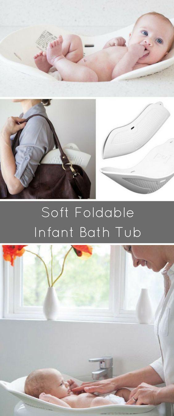 Puj Tub The Soft Foldable Baby Bath Tub White