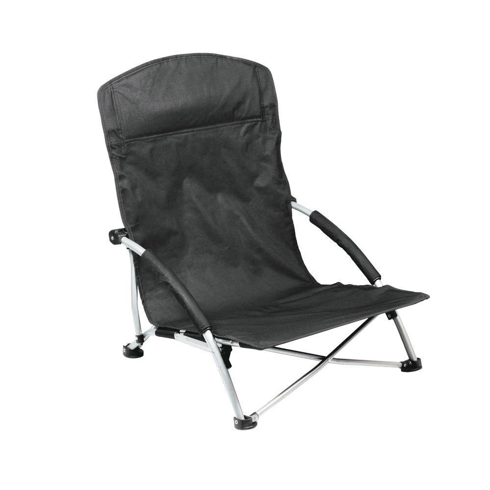 Picnic Time Black Tranquility Portable Beach Patio Chair 792 00 175 000 0 In 2020 Beach Chairs Portable Folding Beach Chair Beach Chairs