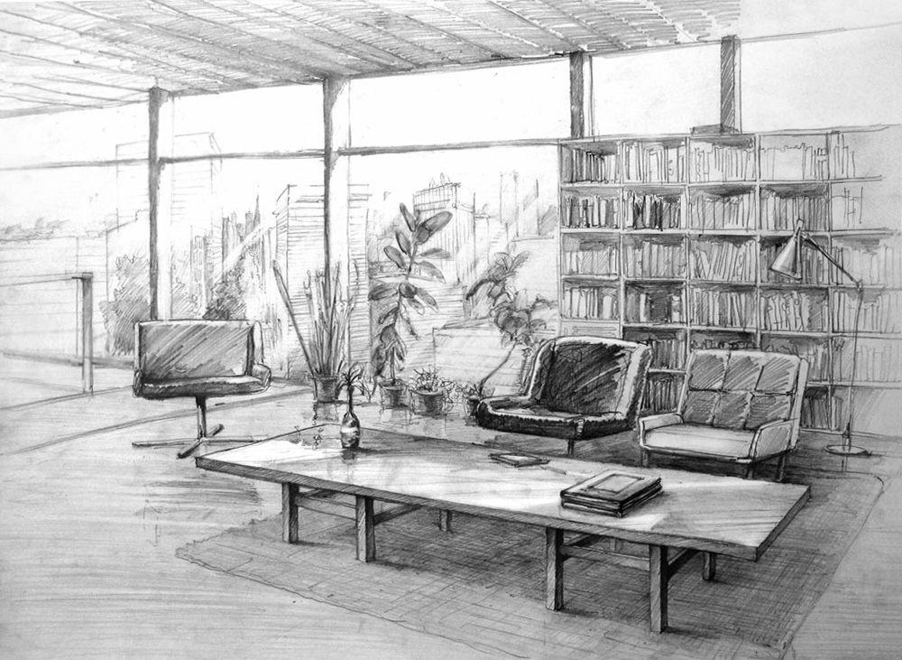 Interior05 by hipiz on deviantart dise o de interiores for Disenos de interiores en blanco y negro