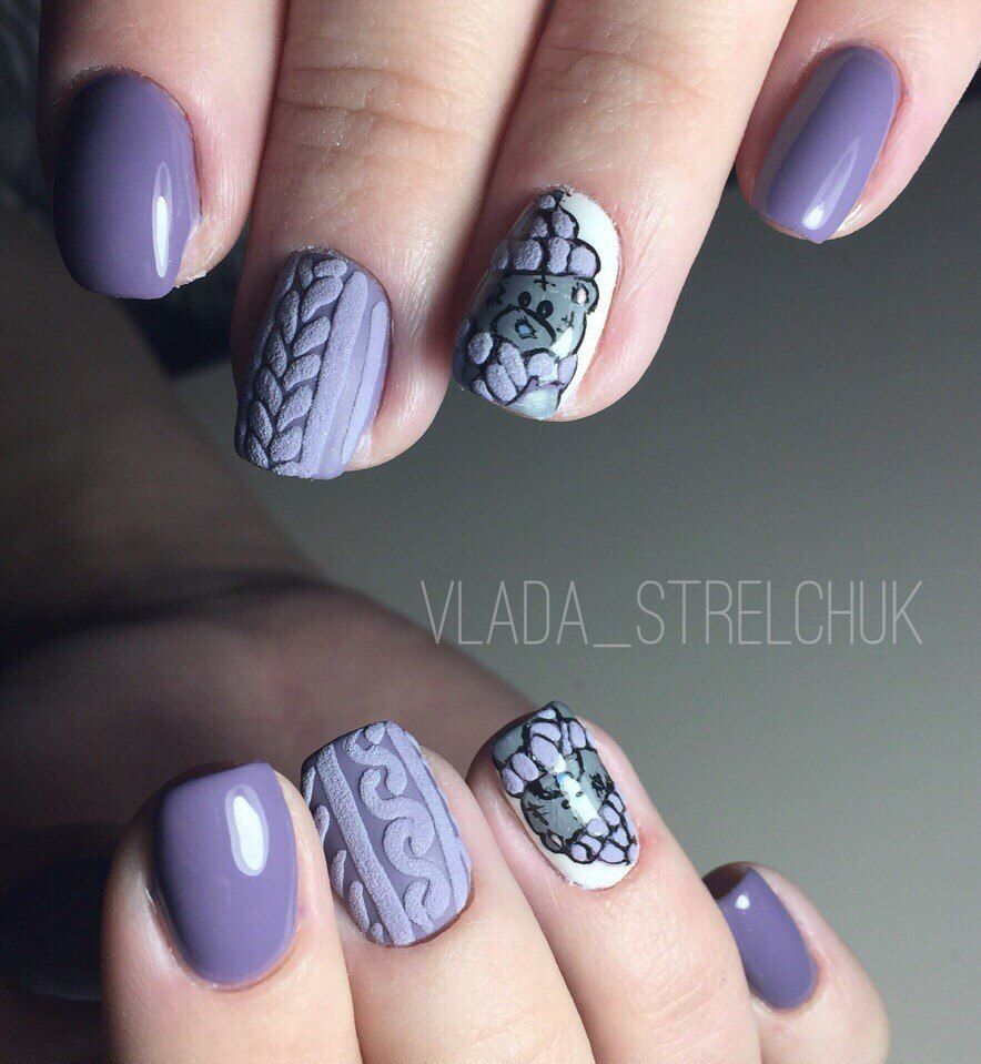 Nail Art #3819 - Best Nail Art Designs Gallery | Light purple nails ...