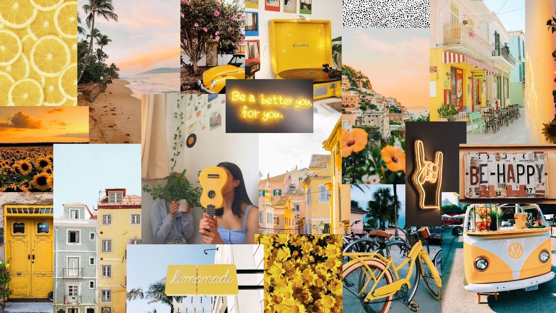 Yellow Aesthetic Wallpaper Laptop