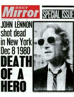 John Lennon murdered, New York, 1980.