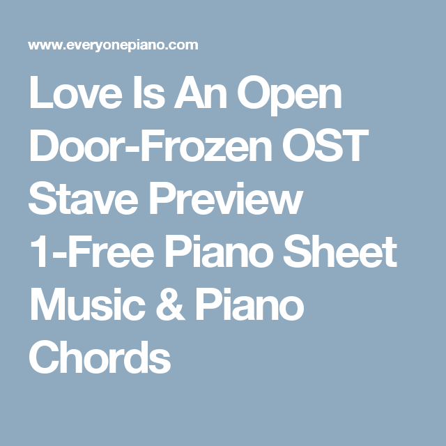 Love Is An Open Door-Frozen OST Stave Preview 1-Free Piano Sheet ...
