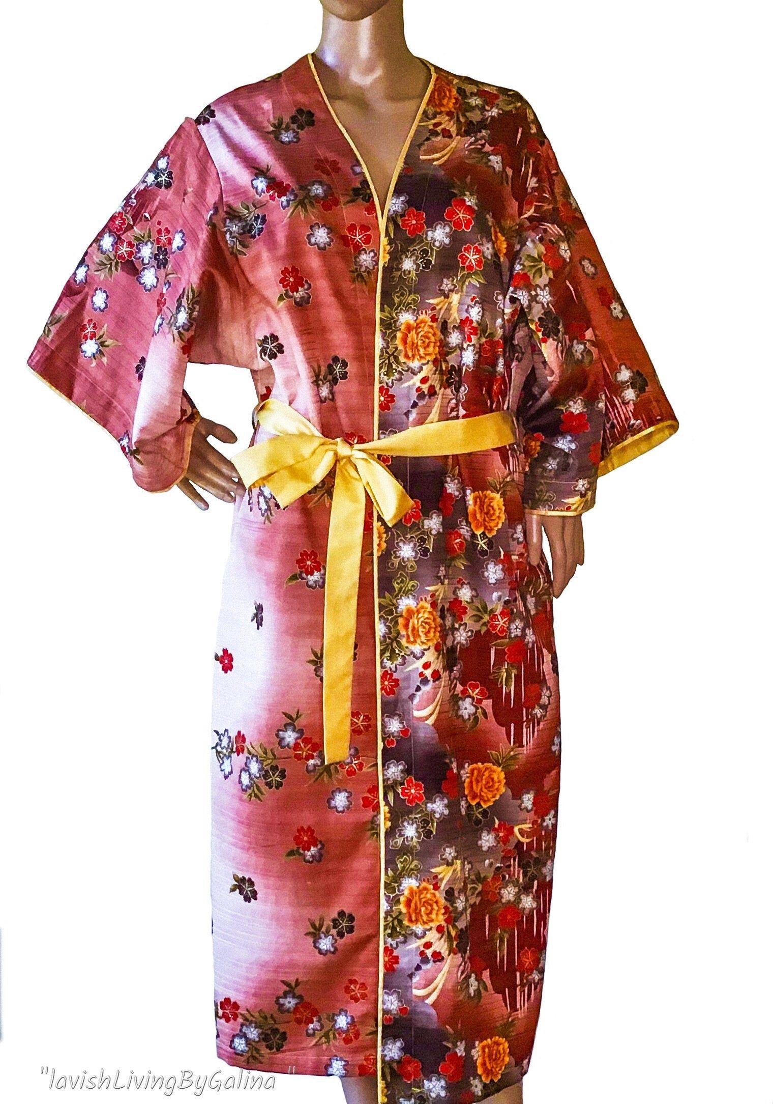 Silk kimono cardigan Kimono Robe Kimono jacket Kimono dress. Boho silk dress Silk Kimono