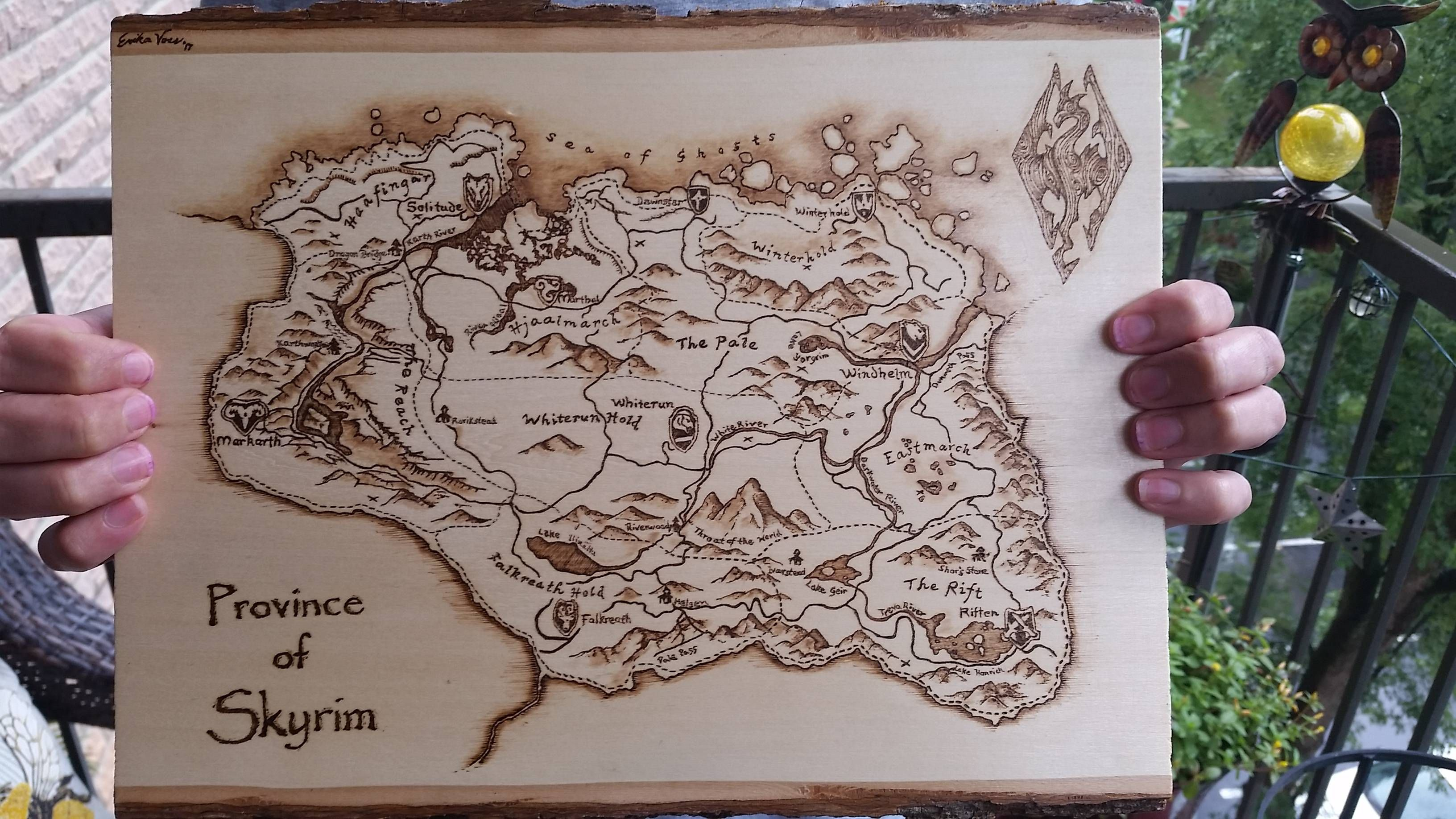 Mentioned to my sister you guys like woodburned maps  She
