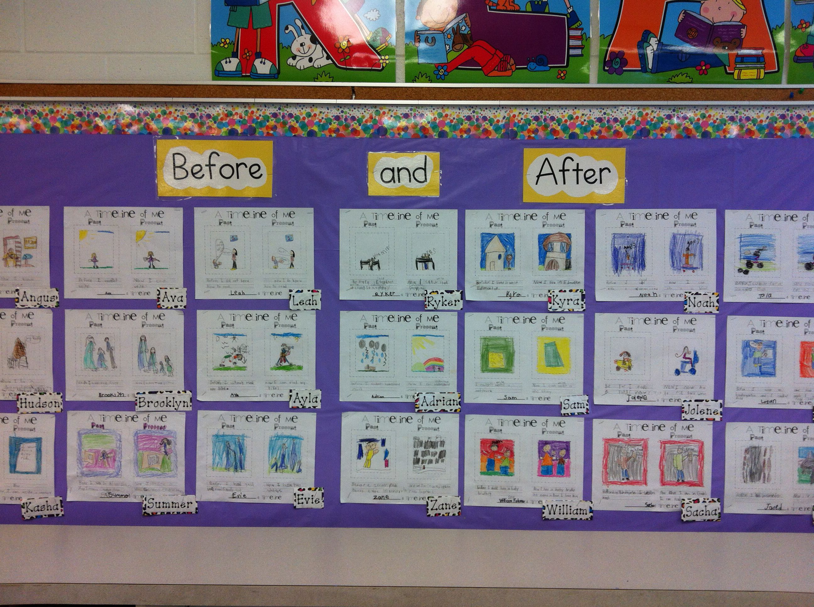 Grade One Social Stu S Before And After To Show How