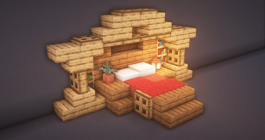 Buildingbuilds On Instagram Little Bed Design Made By Me Should We Do More Of These Small Designs Minecraft Crafts Minecraft Designs Minecraft Creations