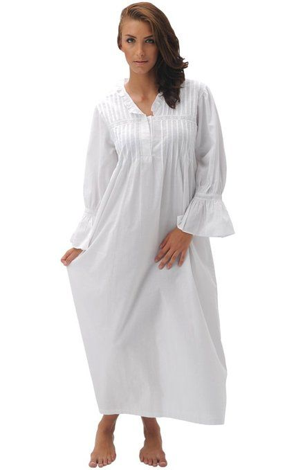 484f9a70c Del Rossa Women s Romeo and Juliet 100% Cotton Bell Sleeve Victorian  Nightgown