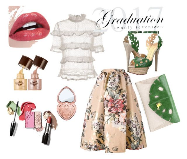 """""""Graduation Day"""" by peppermax ❤ liked on Polyvore featuring Fendi, Too Faced Cosmetics and Charlotte Olympia"""