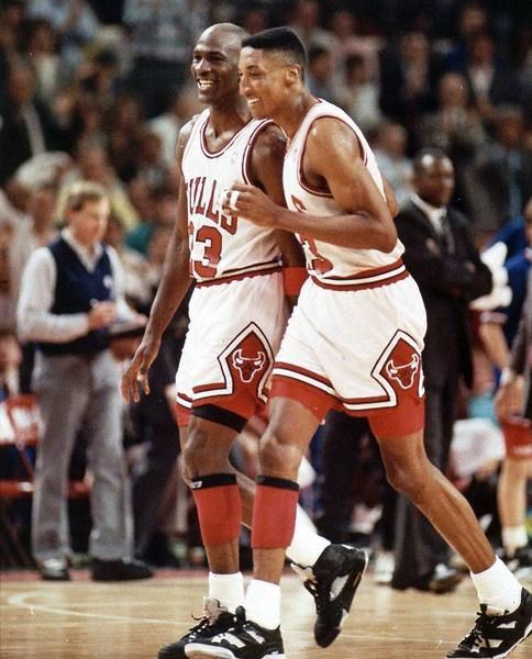 Mike And Scottie Feeling Good, '90 Playoffs.