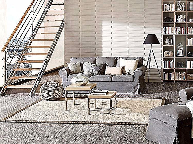 Kreative Wandgestaltung Im Wohnzimmer 3d Wandpaneele Neue Dekor In 2020 Outdoor Furniture Sets Decor Home Decor