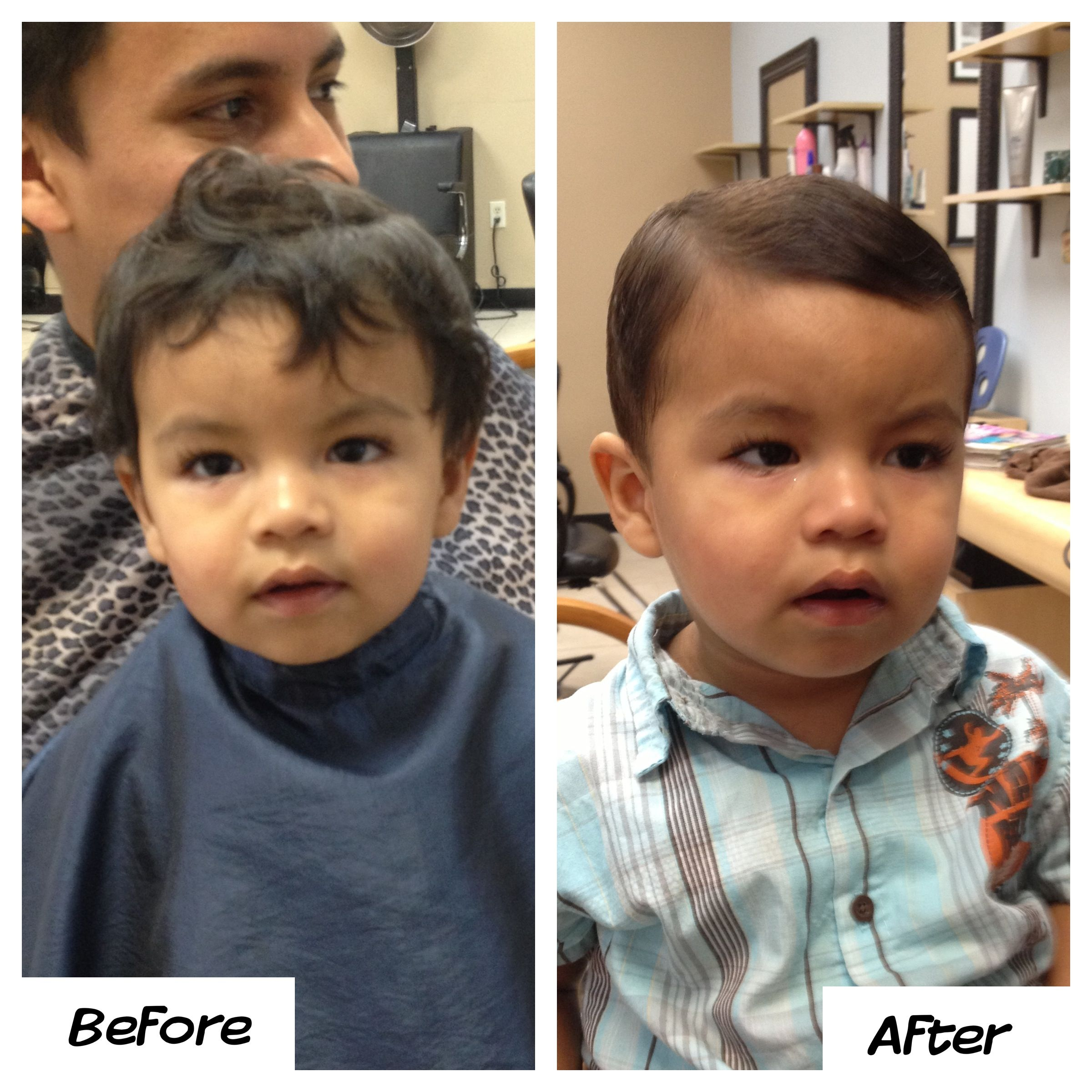 Little Boys Haircut Before And After Baby Boy Hairstyles Baby Boy Haircuts Boys Haircuts