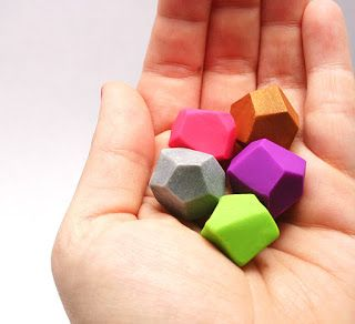 Crafty Tuesday ... Colourful Clay Gems