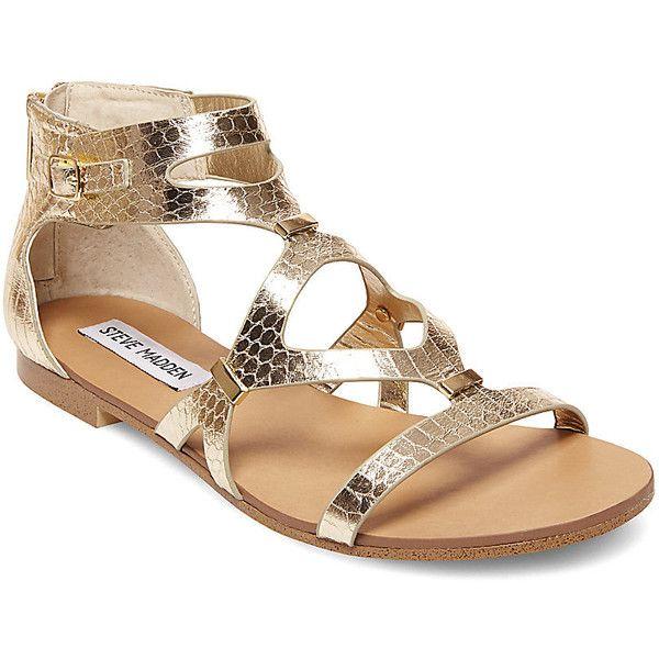 f3a42e3d20a Steve Madden Women s Comly Sandals Gold Snake