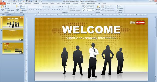 Free global leadership PowerPoint template Ideas for the House - powerpoint presentations template
