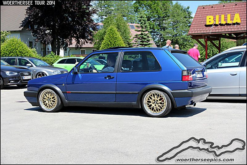 Blue Vw Golf Mk2 Gti Hot
