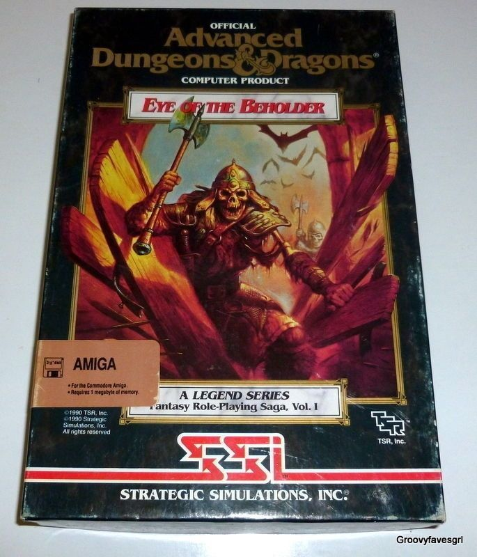 Advanced Dungeons and Dragons #EyeoftheBeholder #DandDGame #Amiga Commodore PC 1990