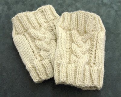 Jeanie Made These Super Cute Boot Cuffs Using Some Basic Cable