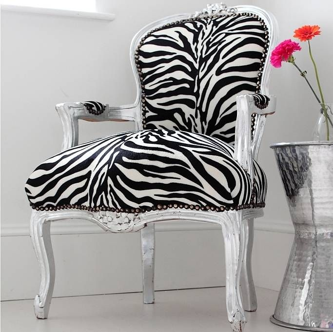 Zebra Print Kitchen Decor: Kimberley Zebra Print Arm Chair