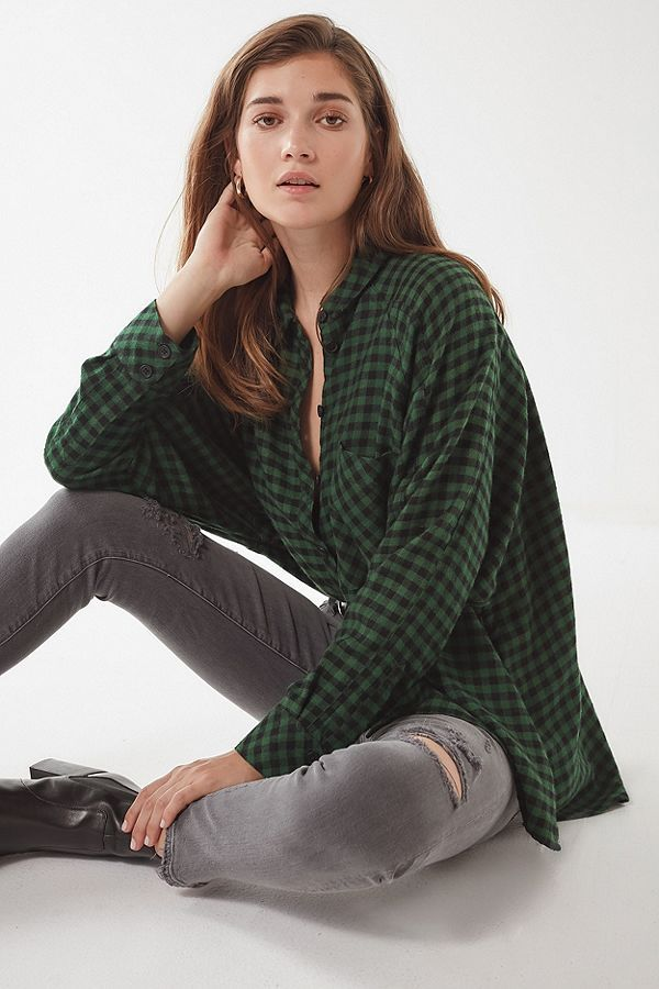 f0cd4d56 UO Brendan Drapey Flannel Button-Down Shirt | Urban Outfitters  #BeautySecretsFromAroundTheWorld