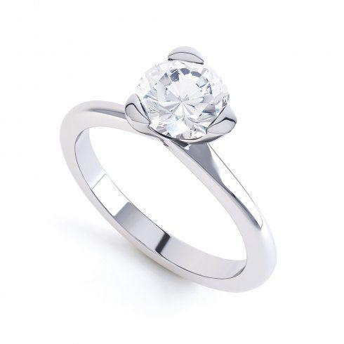 "Berry's ""Amber"" Platinum Set Solitaire Diamond Engagement Ring 1.00 Carats"