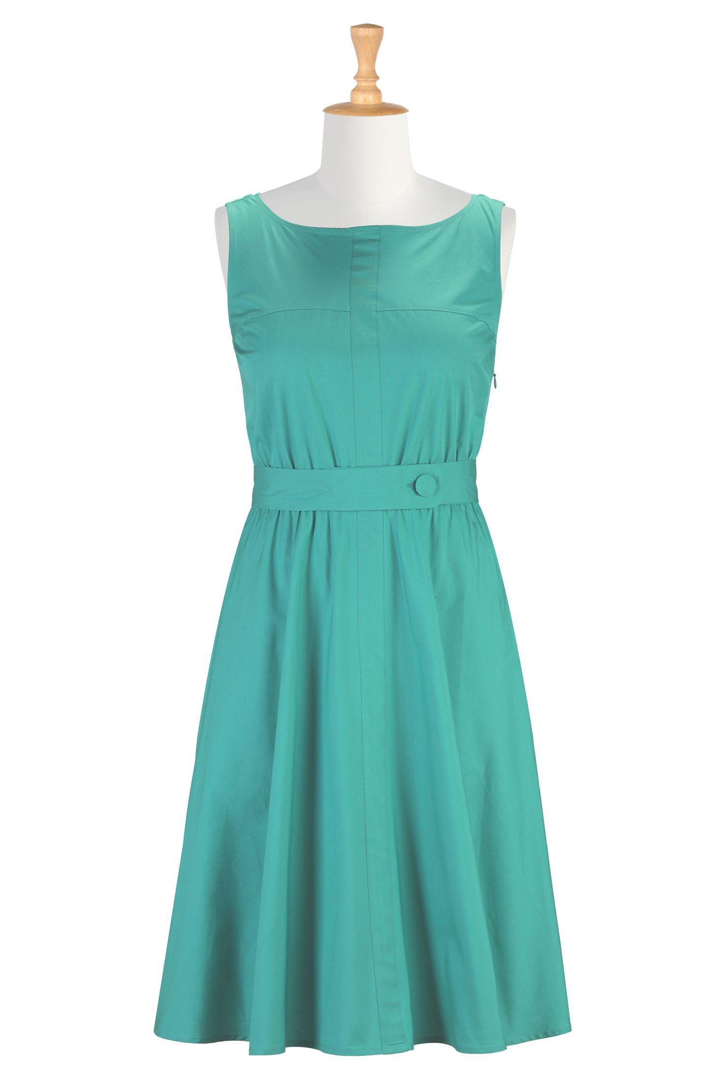Daytime Dresses Plus Size, Solid-Color Dresses Shop womens fashion design - Designer Fashion - Women's designer clothes and more | eShakti.com