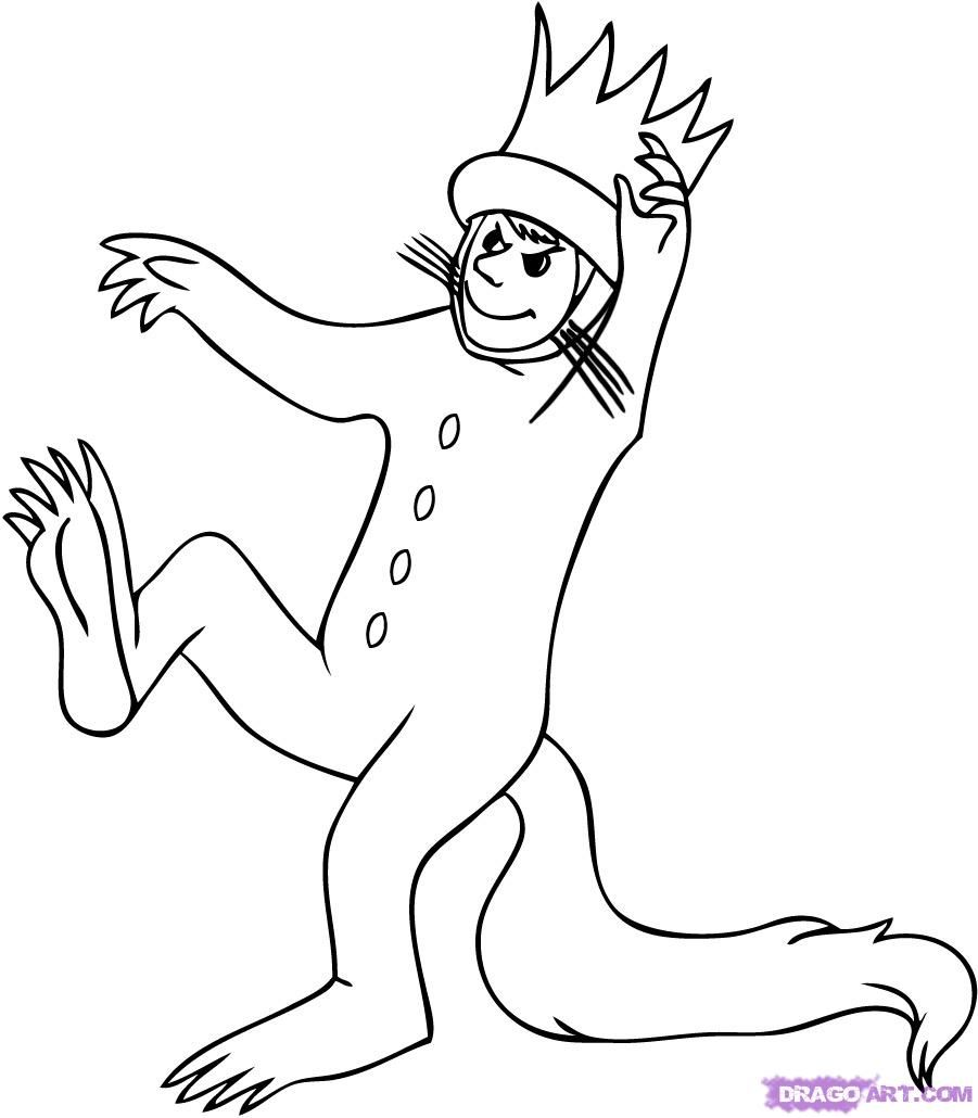 Where The Wild Things Are Coloring Pages To Print