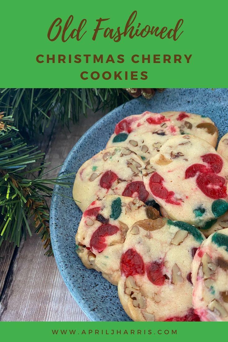 Cherry Christmas Cookies #sliceandbakecookieschristmas