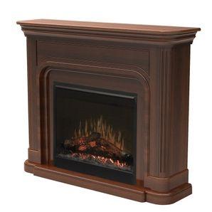 Dawson Burnished Walnut Electric Fireplace