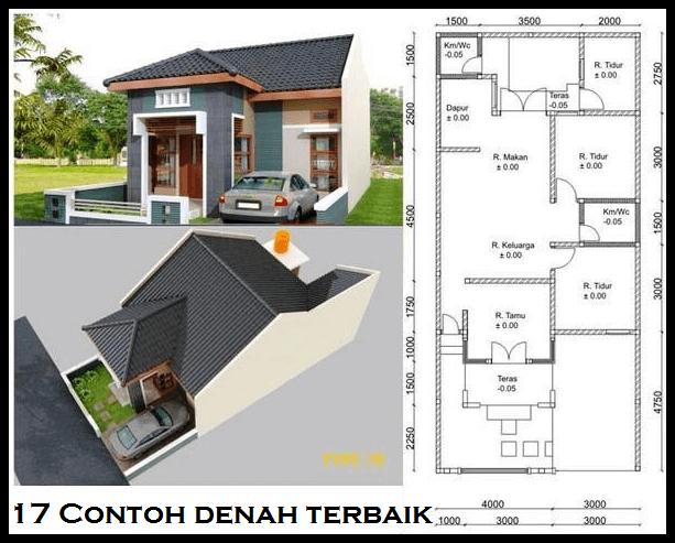 Denah Rumah Minimalis 2 Lantai Ukuran 7x15 Rumah Minimalis Denah Rumah Rumah