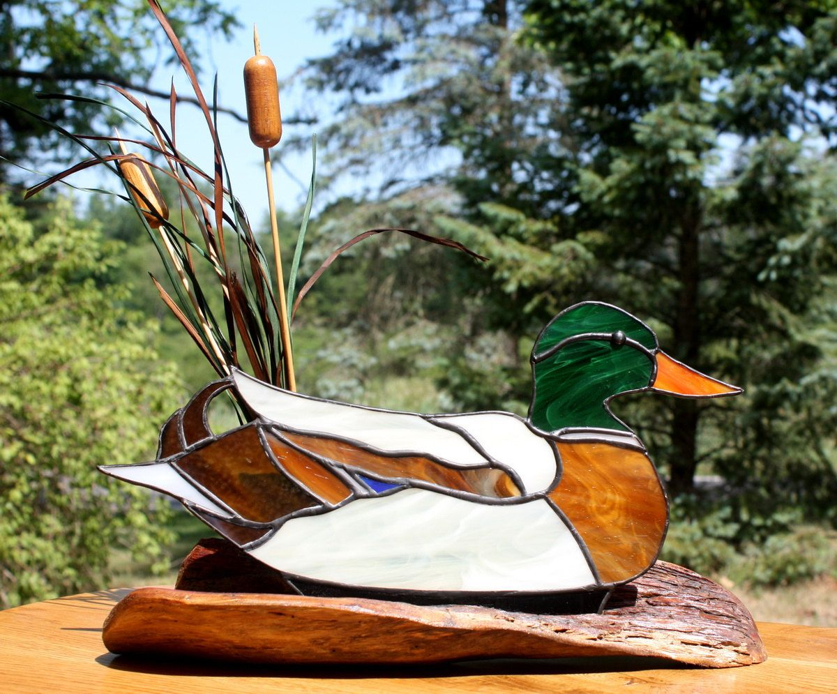 Stained Glass Mallard Duck Sculpture. $59.00, via Etsy ... - photo#38