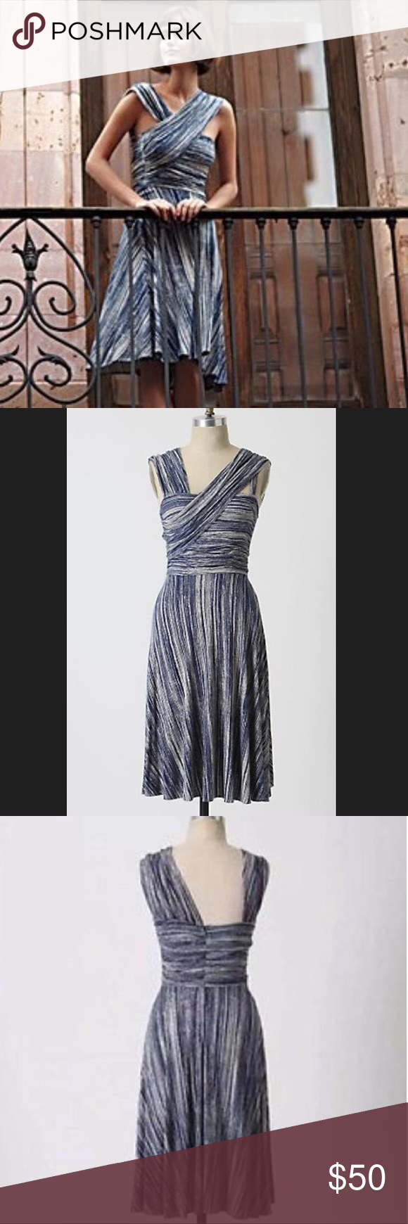 627b37f8ce92 Anthropologie Dreamy Drape Dress by Tracy Reese A gathered jersey frock  from Plenty by Tracy Reese for Anthropologie, in the speckled ink pattern,  ...