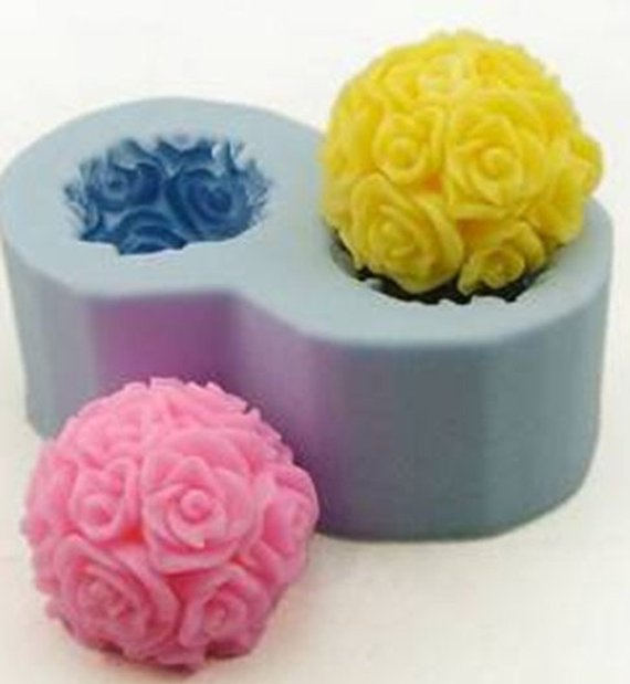 Rose Flower Soap Silicone Mould Flexible Resin Candy and Candle Mold Chocolate