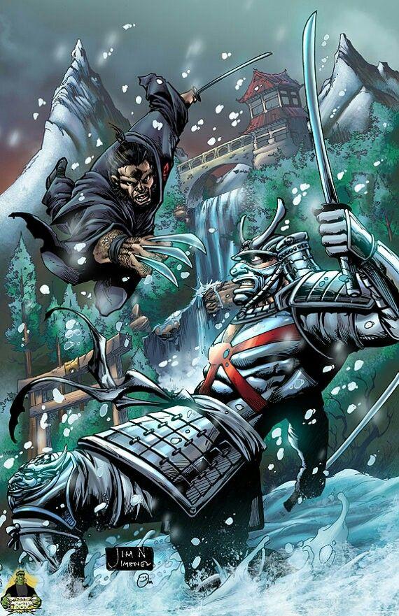 Wolverin vs Silver Samurai | Silver Samurai | Marvel ...  Wolverin vs Sil...