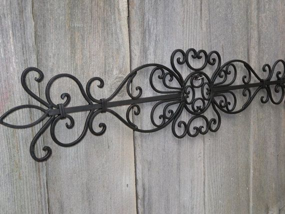 Wrought Iron Wall Hanging Ornate Decor Fleur De Lis