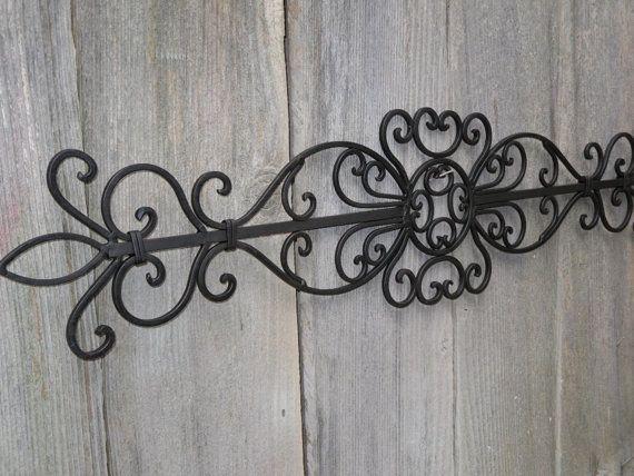 Wrought Iron Wall Hanging / Ornate Wall Decor /Fleur de ...