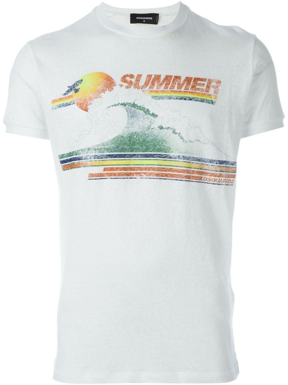 DSQUARED2 Summer Print T-Shirt. #dsquared2 #cloth #