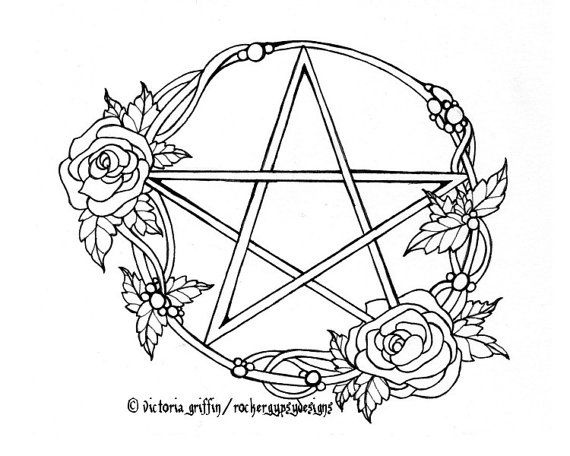 Wicca Coloring Page Wiccan Printable Adult Rh Nz Books Watercolor