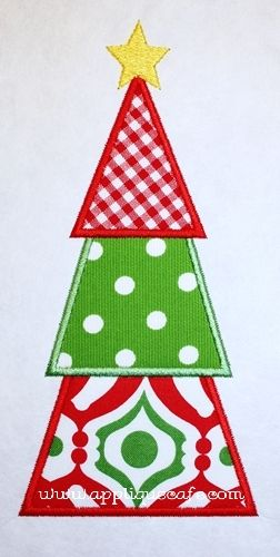 Christmas Tree Applique Design Christmas Applique Christmas Sewing Christmas Embroidery