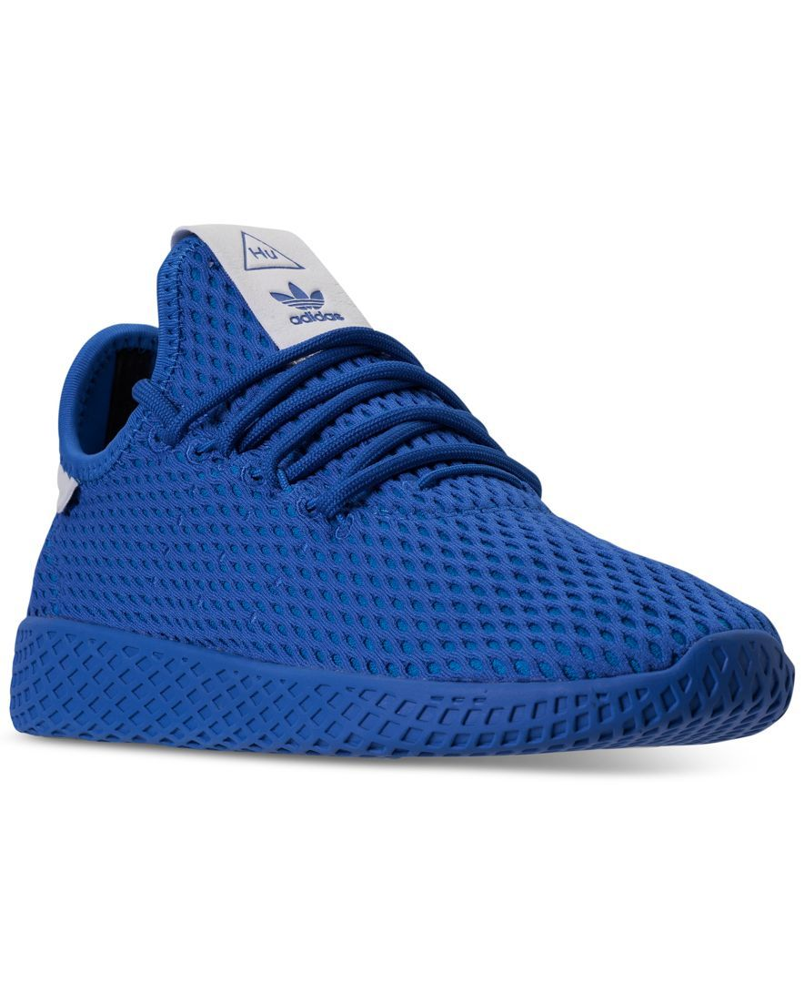 fdff2986c36b9 adidas Originals Big Boys  Pharrell Williams Tennis Hu Casual Sneakers from Finish  Line