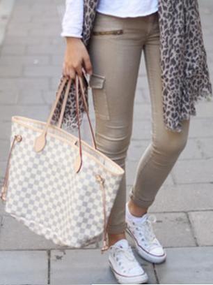dcddb0ee1d3 Louis Vuitton Damier Azur Canvas Neverfull Bags GM N51108 | Louis ...