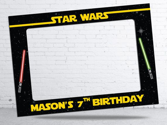star wars theme birthday party frame digital file 28x40 or 28