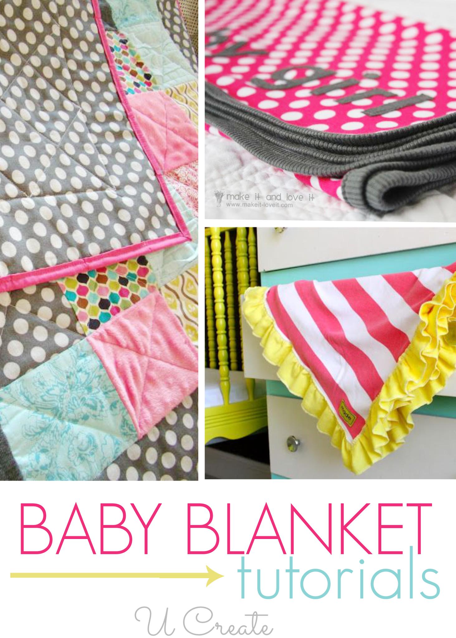 Baby blanket tutorials u create projekty do wypróbowania