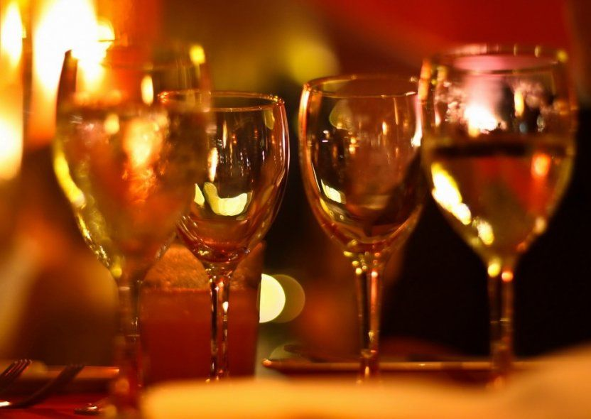 """ROMANTIC. Perfect wine advice is guaranteed by the sommelier. The """"meet and greet"""" with the artists of the kitchen on the right one of the extraordinary culinary evening."""