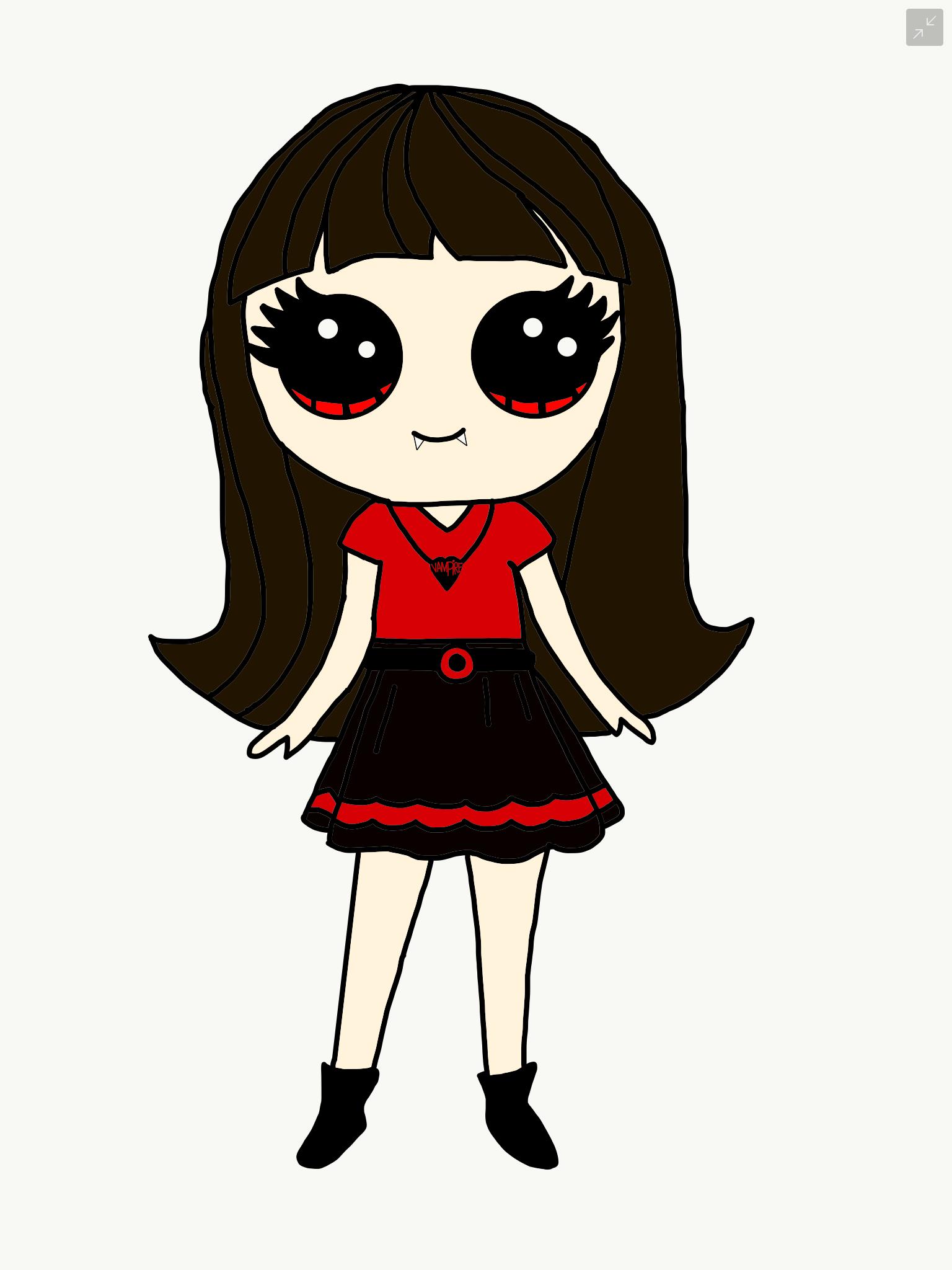 Cute vampire girl | Tekenen