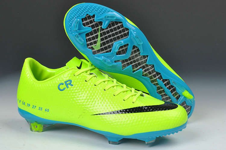 Nike Mercurial Vapor IX SE FG Limited Edition Boots  Fluorenscent Green  Blue Black Soccer Shoes For Cheap