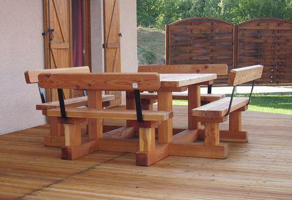 Table En Bois Avec Banc Exterieur Interesting Table Classe